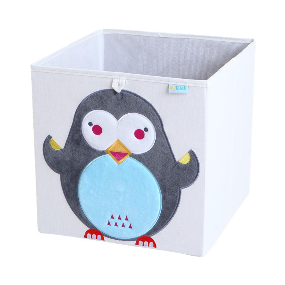 MyTolek童樂可|藏寶盒收納布箱-企鵝冬冬