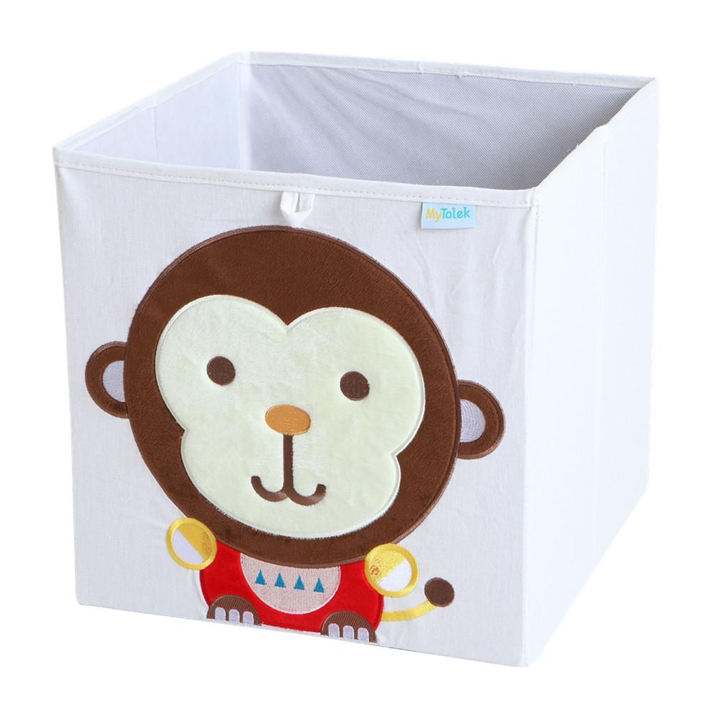MyTolek童樂可|藏寶盒收納布箱-猴小樂