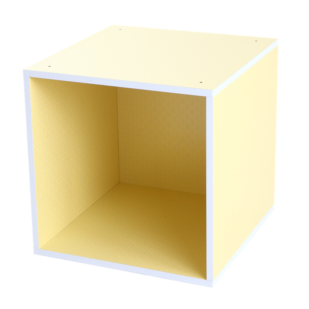 MyTolek童樂可|積木櫃收納系列-單框框(點點黃)