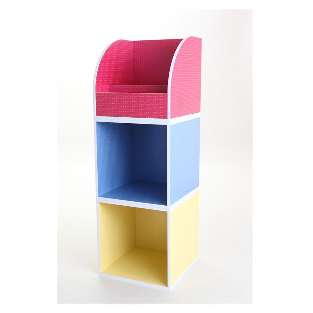 MyTolek童樂可|積木櫃收納系列-單框框(點點粉紅)