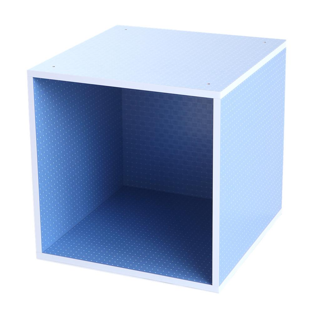 MyTolek童樂可|積木櫃收納系列-單框框(點點藍)