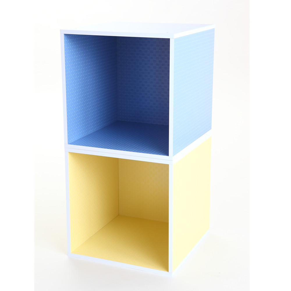MyTolek童樂可|積木櫃收納系列-書架架(點點黃)
