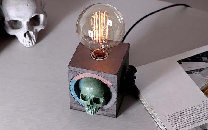 (複製)曙MUSE   個性白骷髏頭桌燈