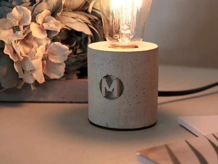 曙MUSE | 圓筒水泥桌燈
