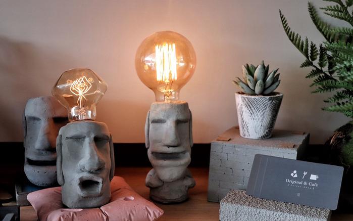 (複製)曙MUSE | 水泥老實摩艾桌燈