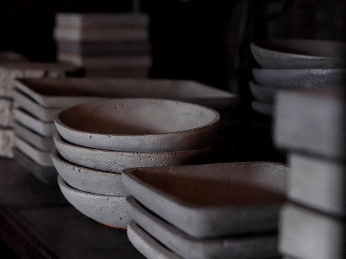 曙MUSE   水泥質感圓形盤
