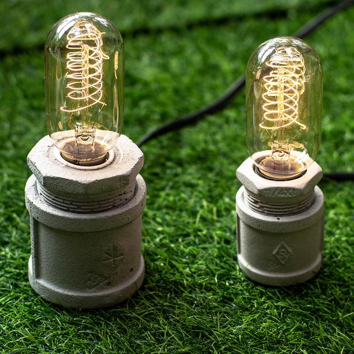 (複製)曙MUSE|仿水管水泥桌燈(兩色任選)
