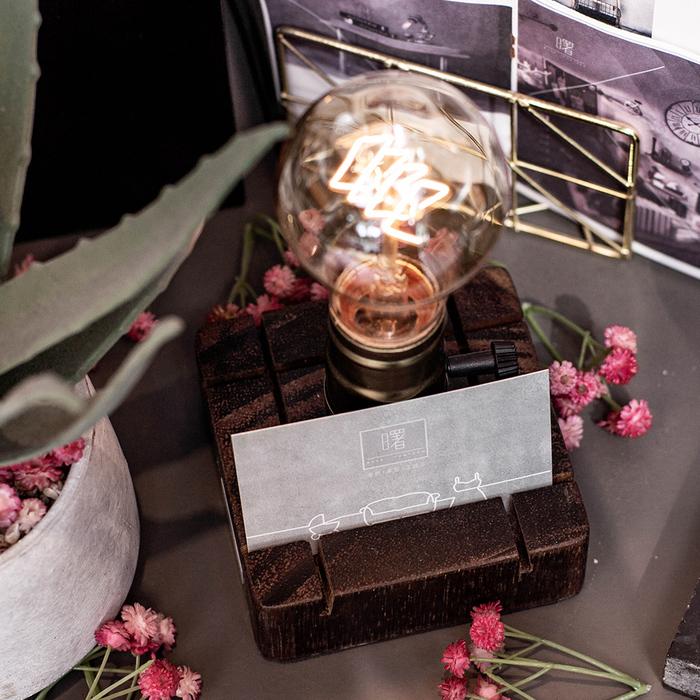 (複製)曙MUSE|觸控調光木質名片架桌燈