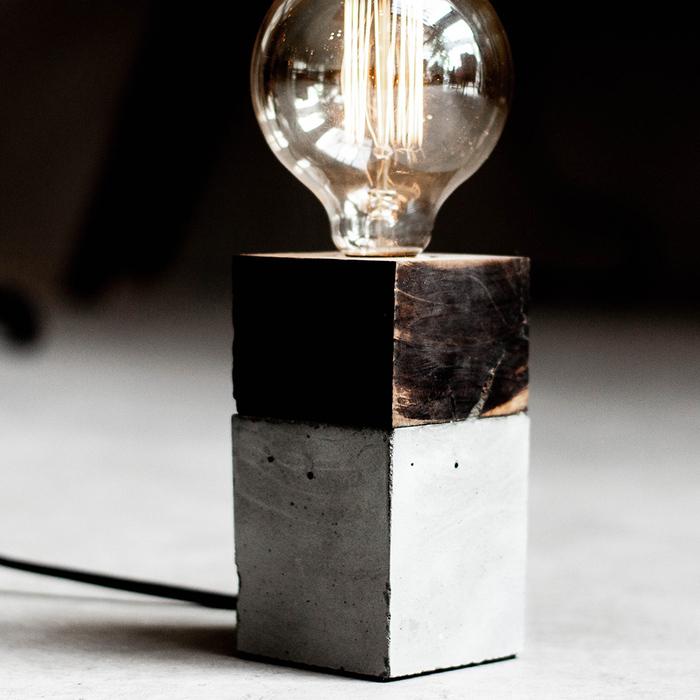 (複製)曙MUSE |質感磚紋水泥桌燈(兩色任選)