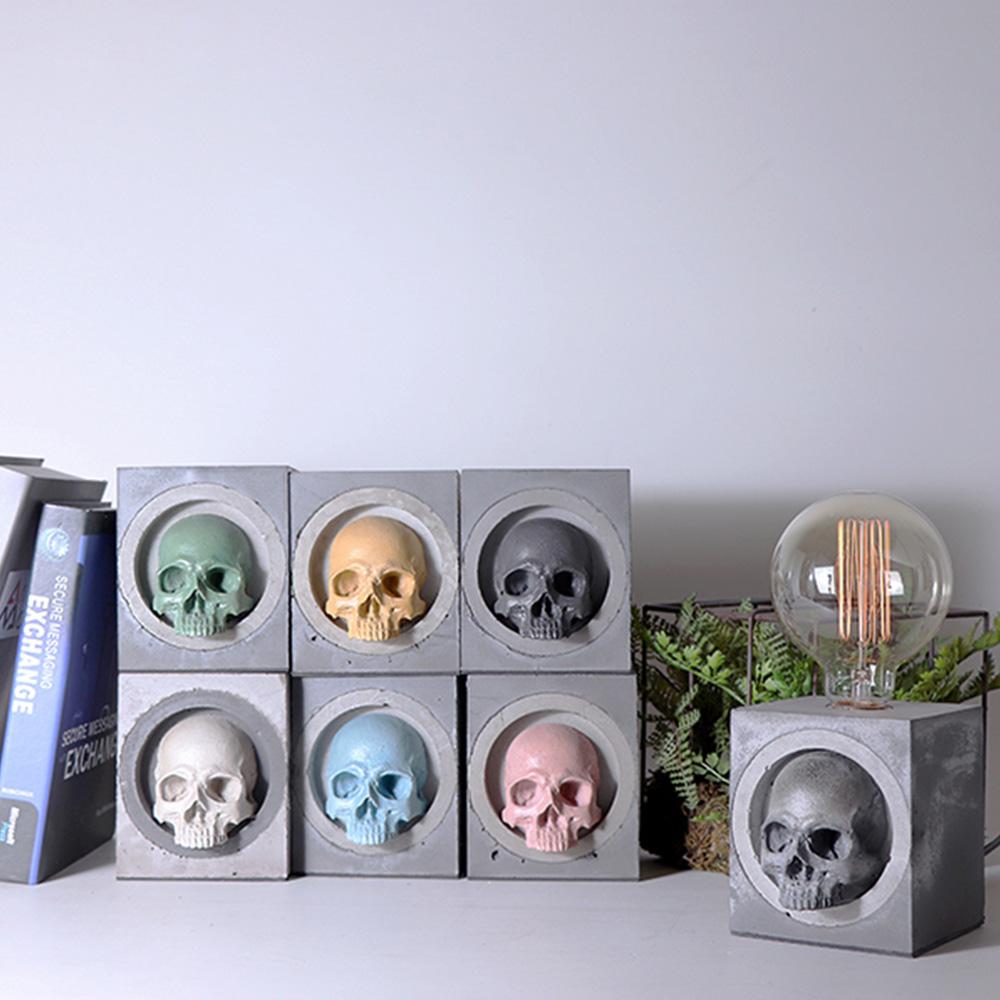 曙MUSE | 骷髏個性水泥桌燈(七色任選)