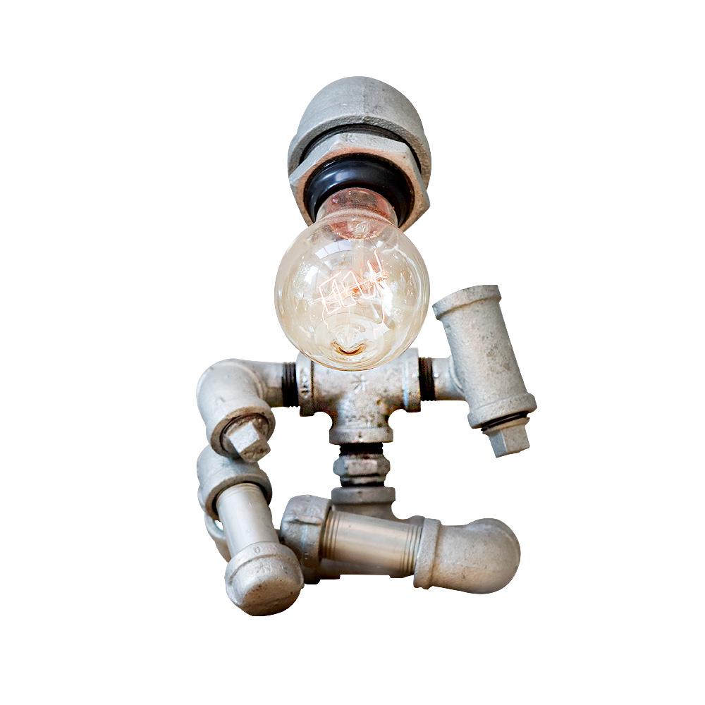 曙MUSE | 工業風機器人桌燈