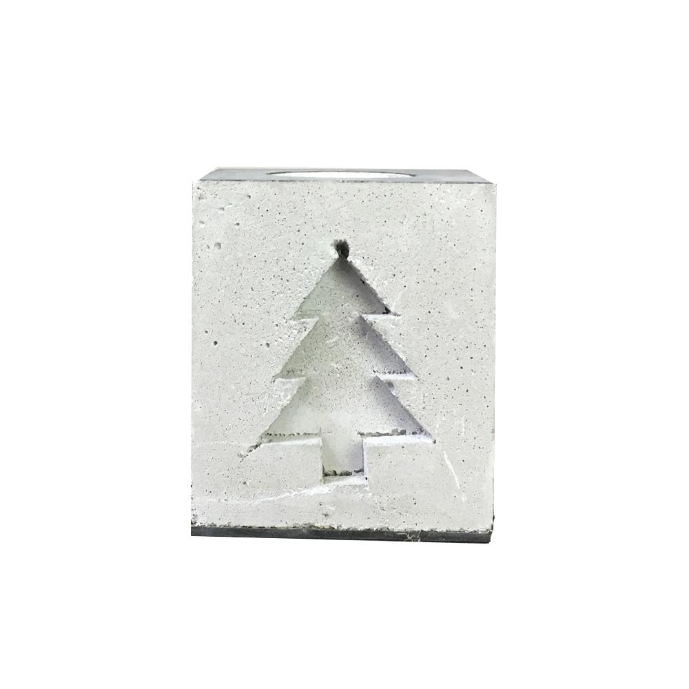 曙MUSE | 聖誕樹壓紋水泥質感桌燈
