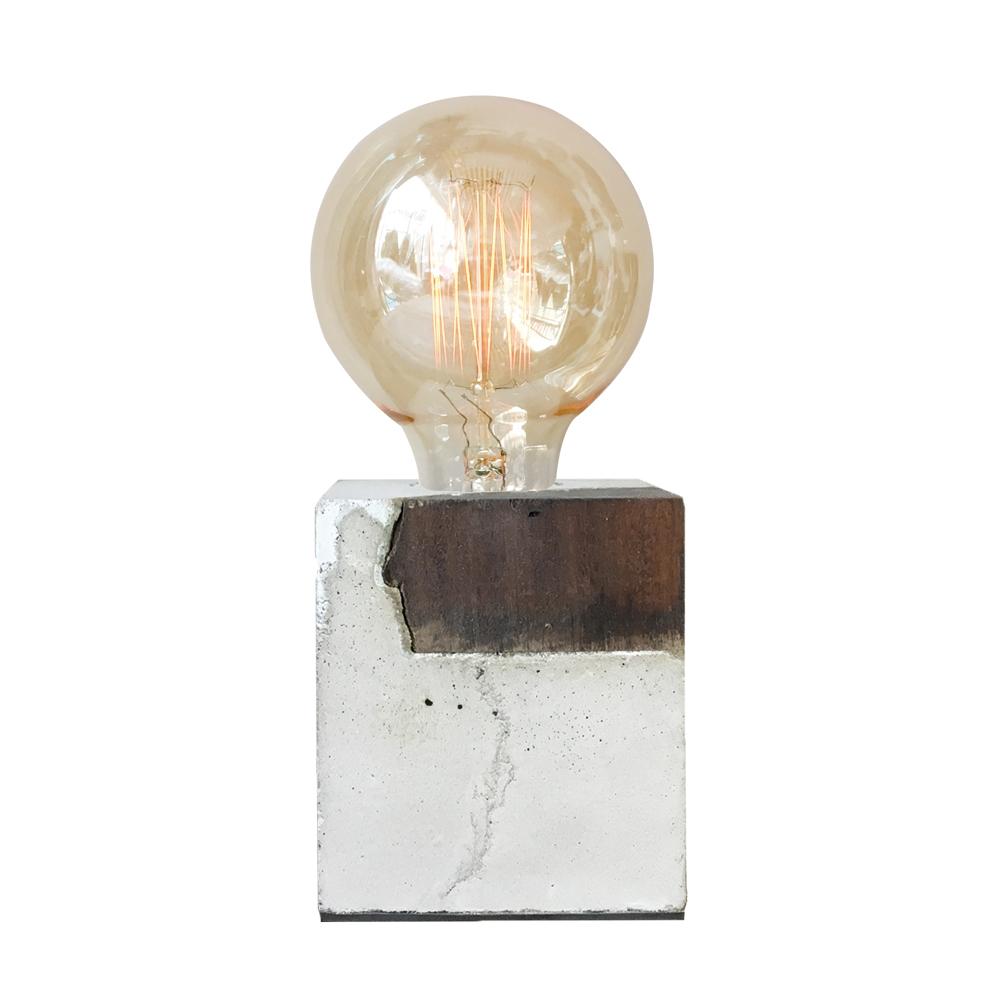曙MUSE | 異材質混搭水泥質感桌燈