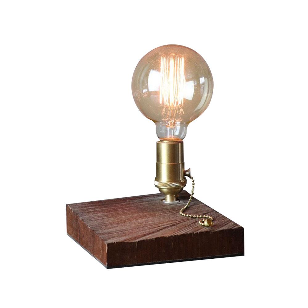 曙MUSE | 大原木方形底座桌燈