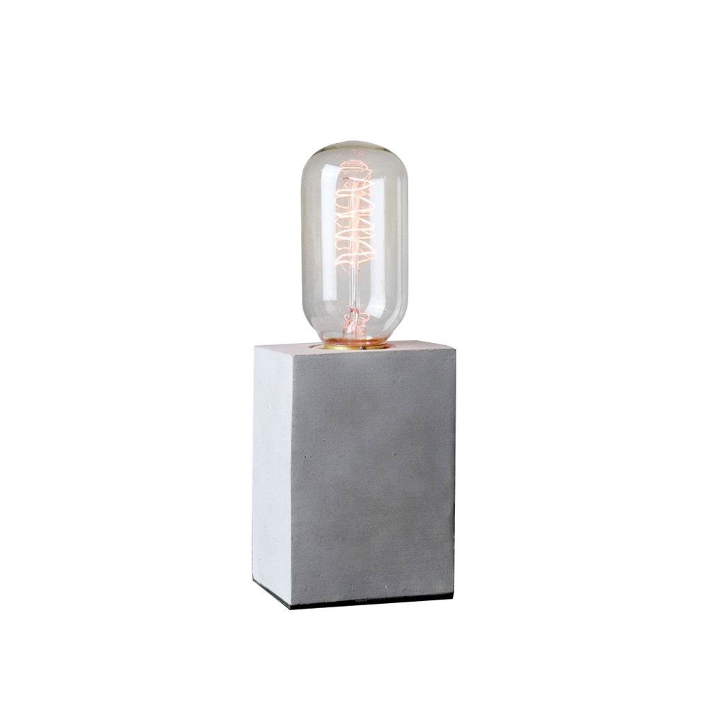 曙MUSE | 立方柱水泥桌燈