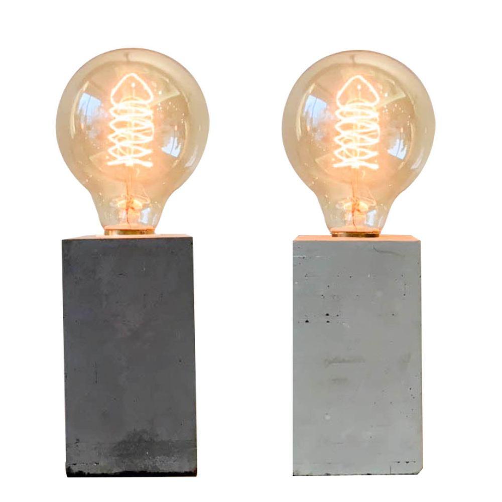 曙MUSE|極簡水泥柱桌燈(兩色任選)