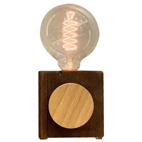 曙MUSE|木質圓盤調光桌燈