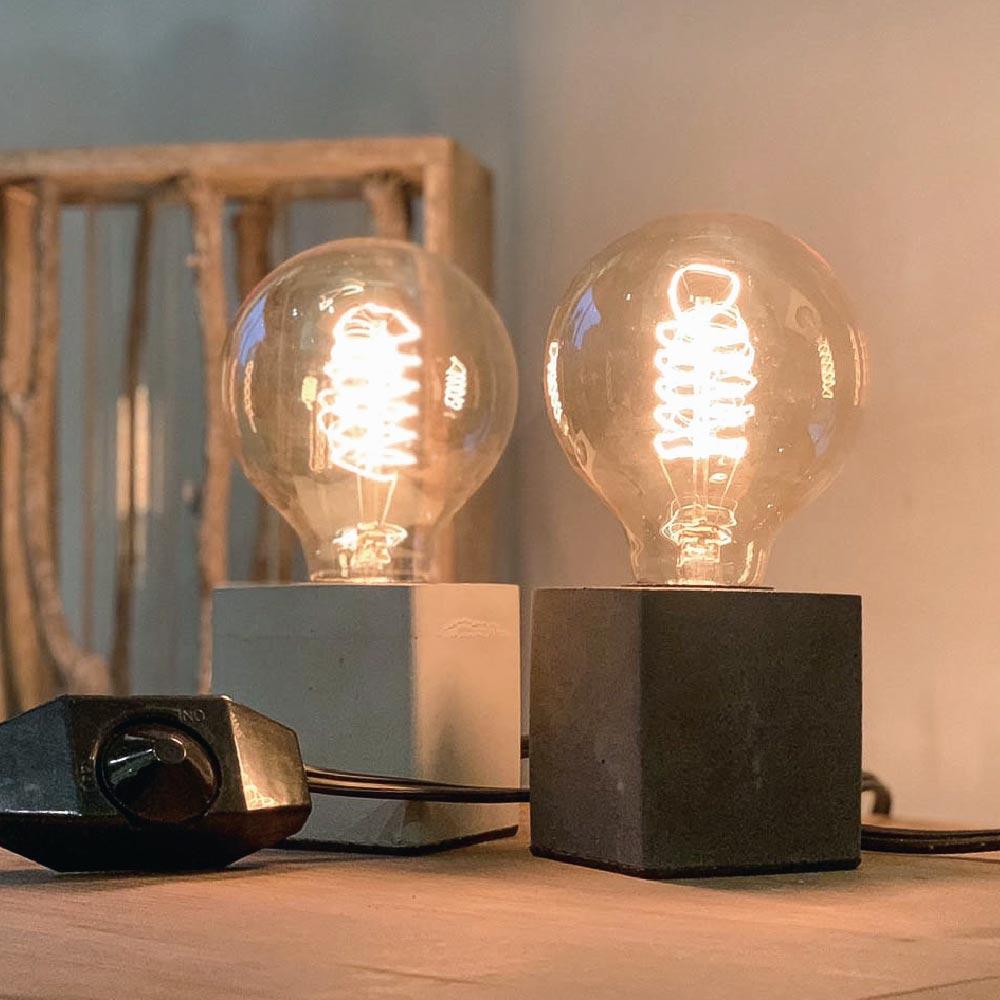曙MUSE |極簡水泥塊桌燈(兩色任選)