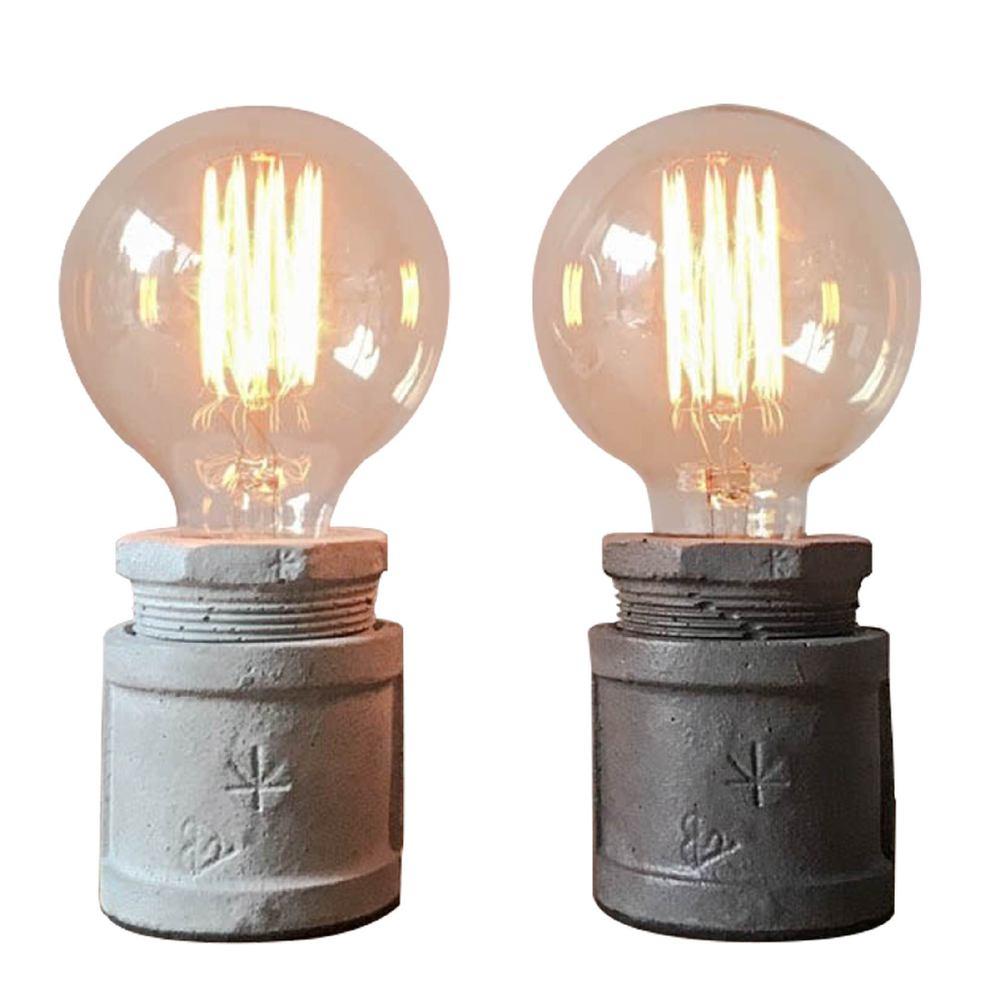 曙MUSE|仿水管水泥桌燈(兩色任選)