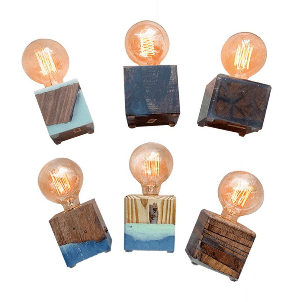 曙MUSE|水晶環氧樹脂夜光桌燈(多款可選)