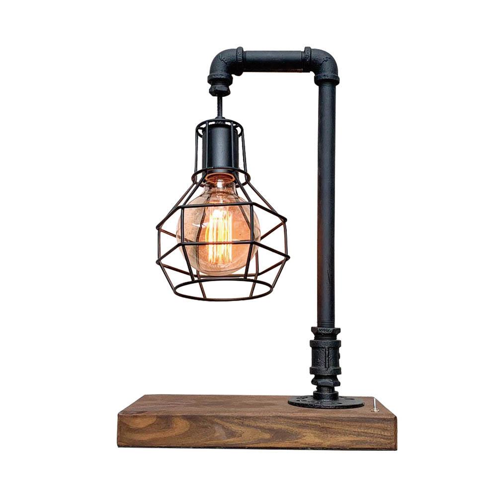 曙MUSE |工業風罩網桌燈