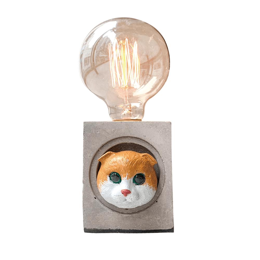 曙MUSE | 折耳貓咪水泥方燈