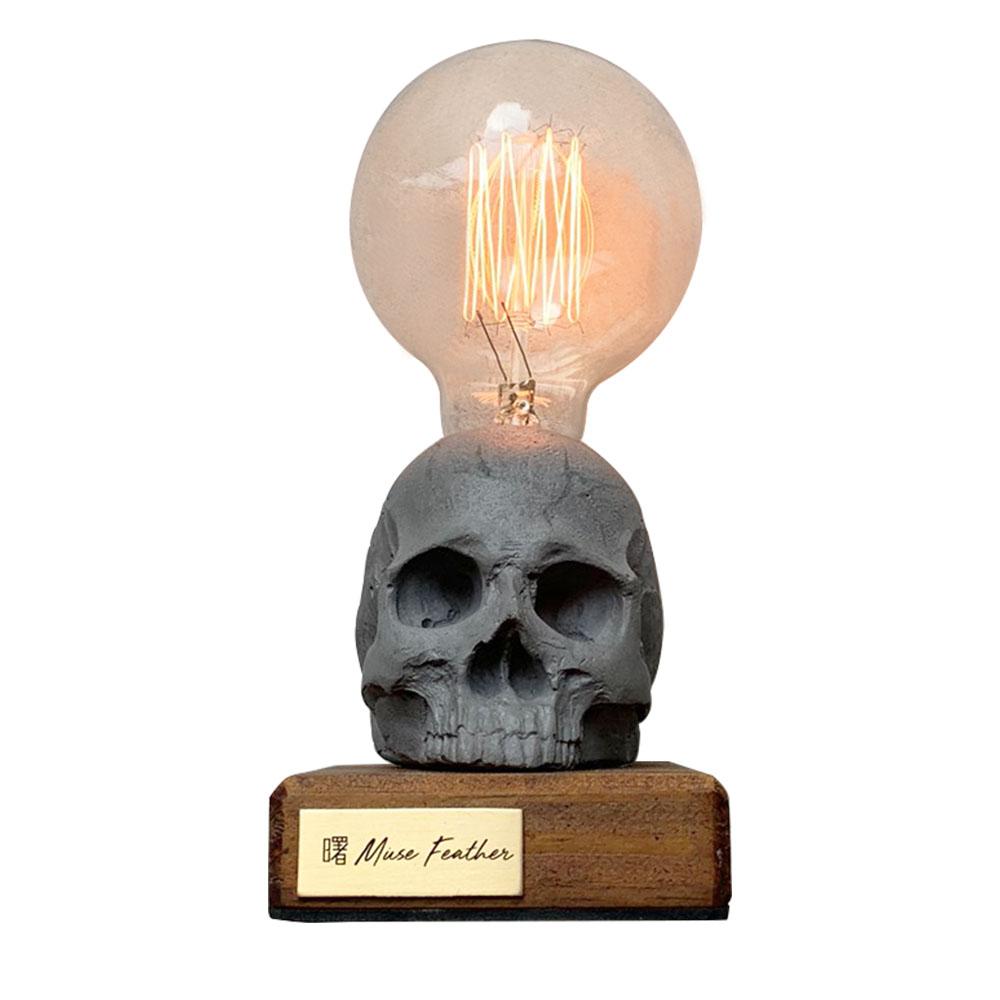 曙MUSE | 骷髏木底盤燈
