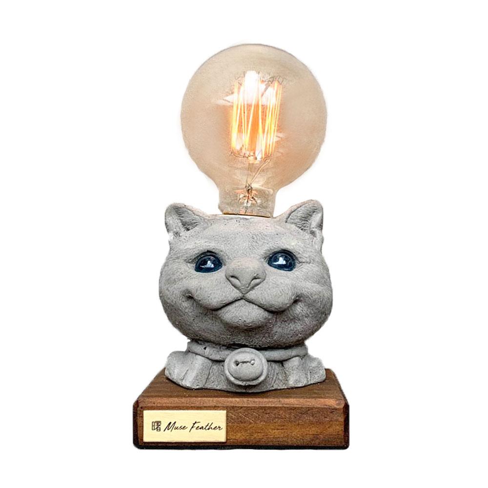 曙MUSE | 貓咪木底盤燈