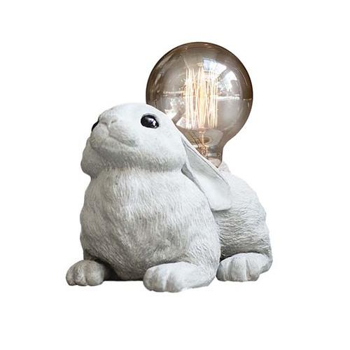 曙MUSE|水泥可愛小白兔寶寶桌燈