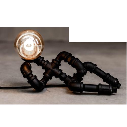 曙muse | 工業風慵懶機器人桌燈(黑)