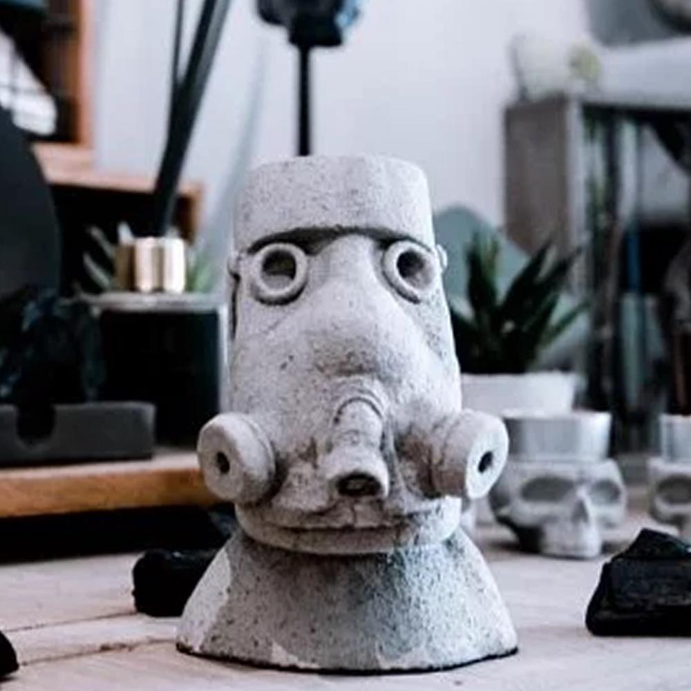 曙MUSE|防毒摩艾造型水泥擺飾