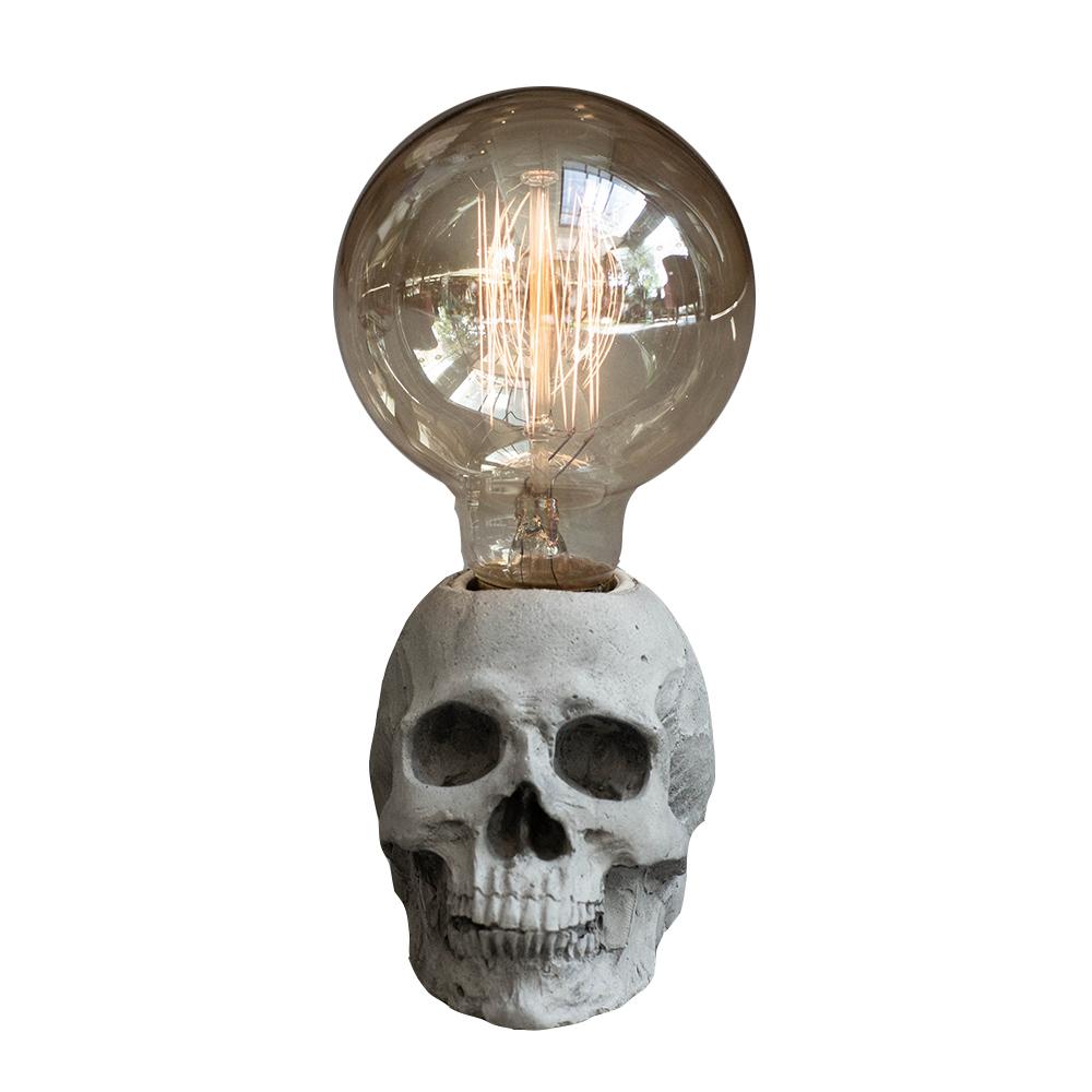 曙MUSE   經典骷髏水泥質感桌燈