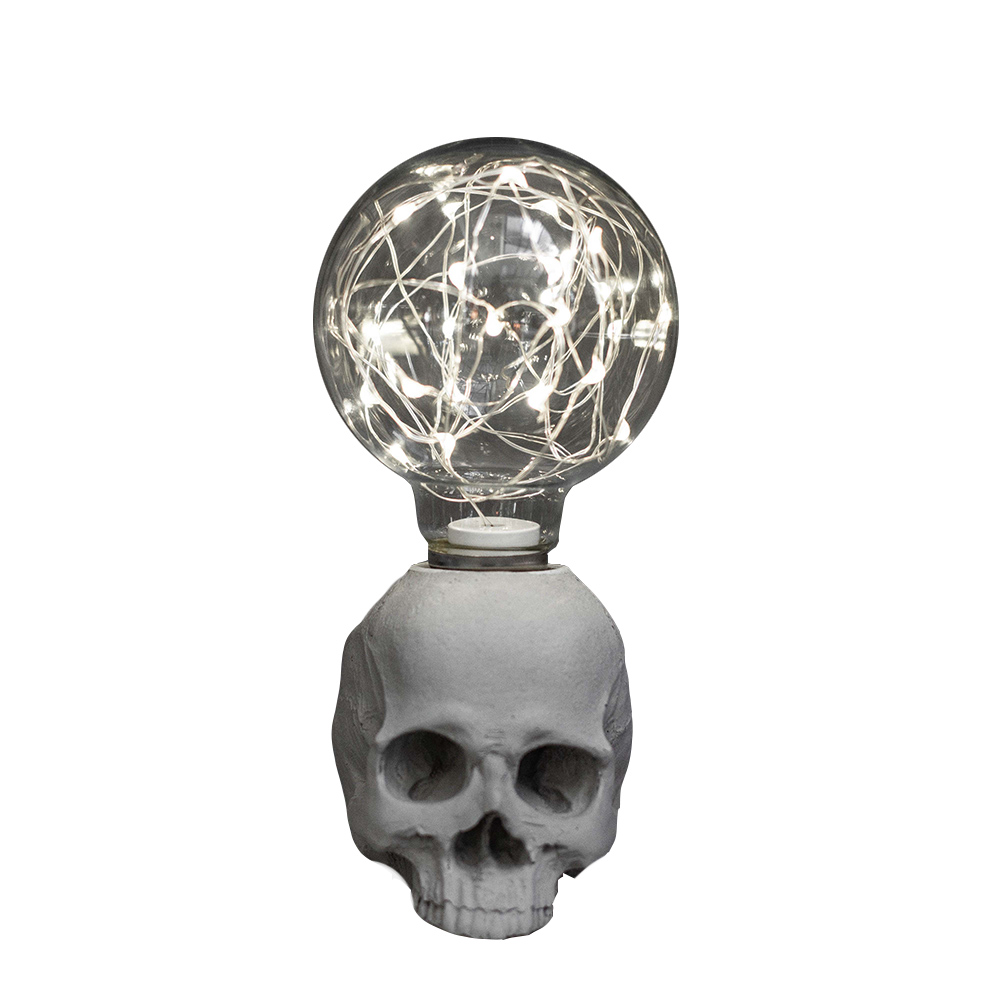 曙MUSE | 骷髏USB水泥桌燈