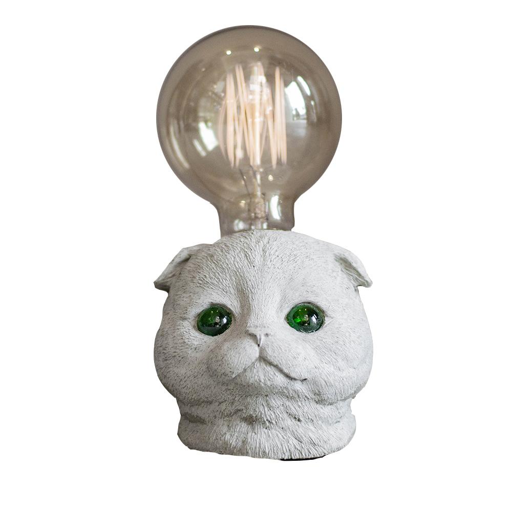 曙MUSE|摺耳貓水泥桌燈