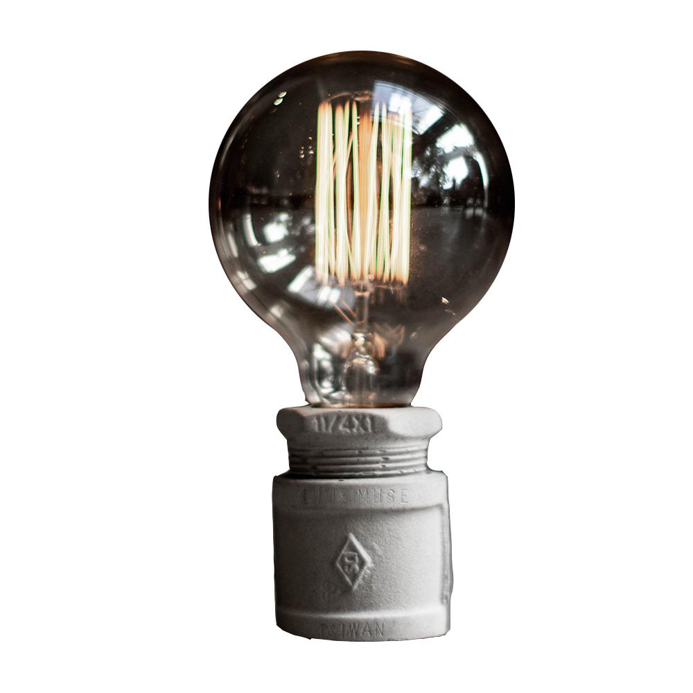 曙MUSE|仿復古水管水泥桌燈