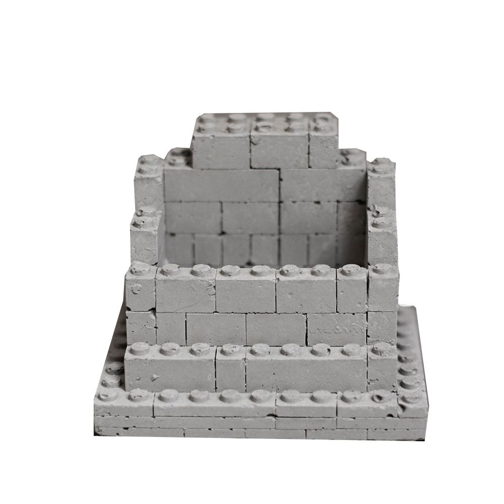 曙MUSE|積木堆疊水泥名片座