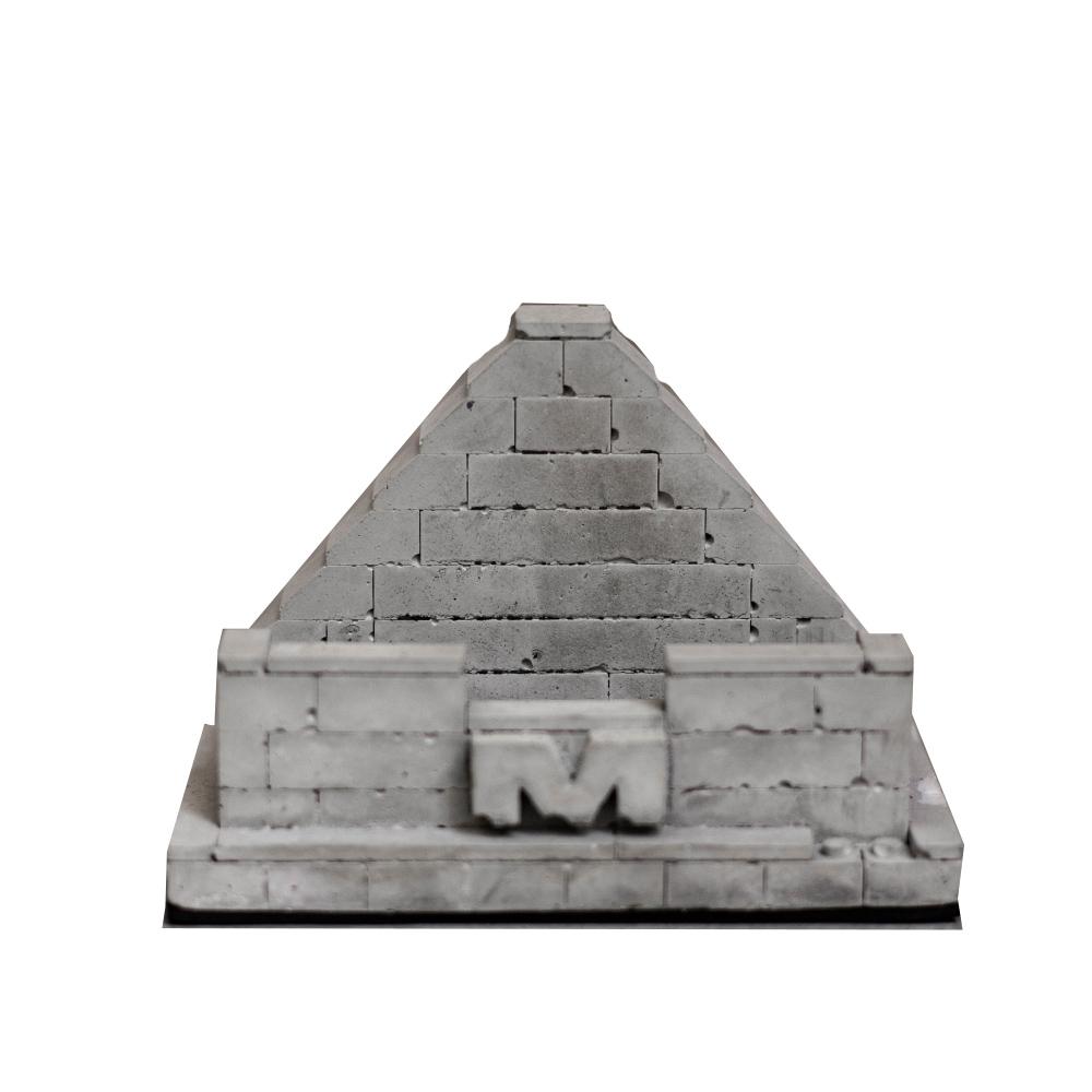 曙MUSE|金字塔水泥磚塊名片座