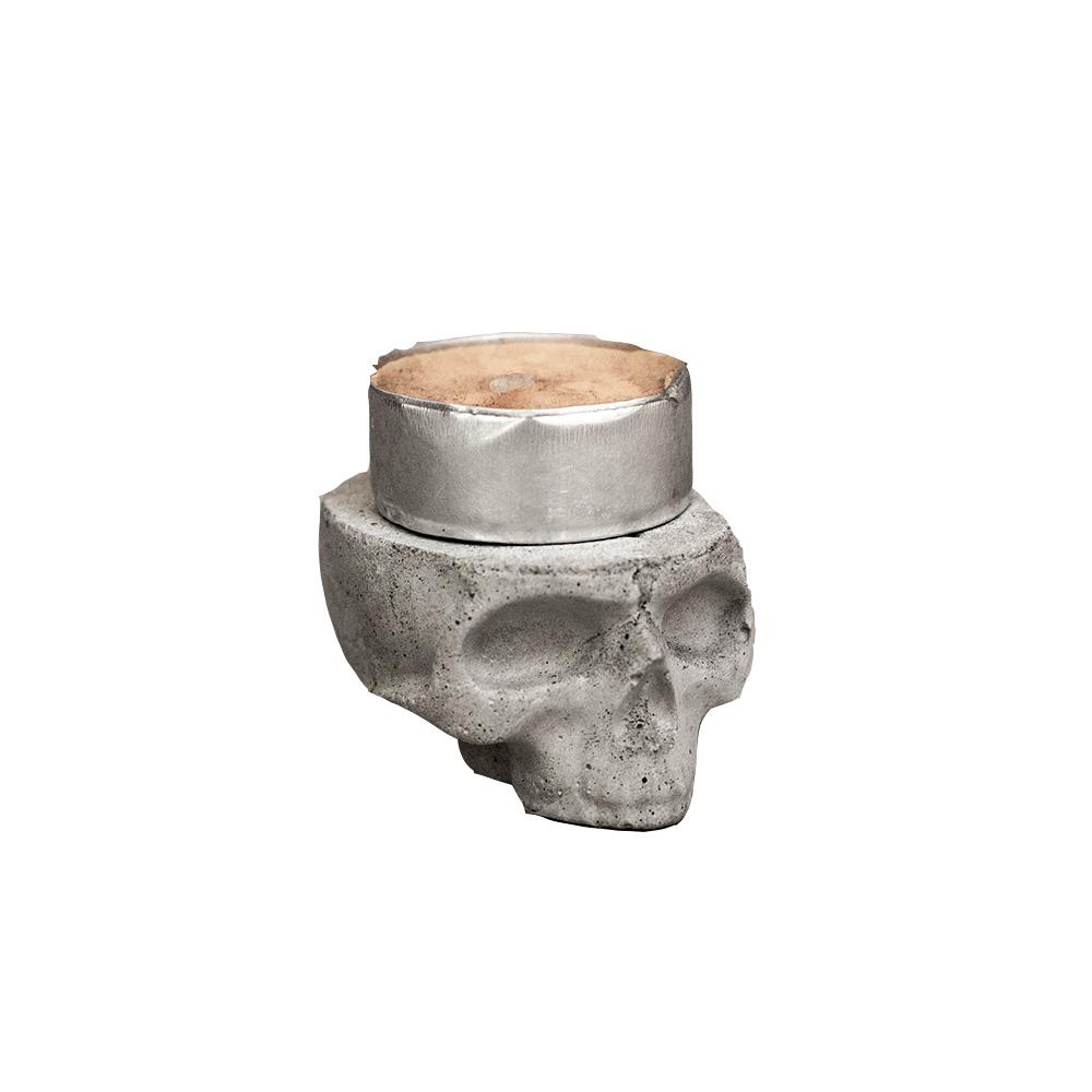曙MUSE | 水泥骷髏造型小燭台