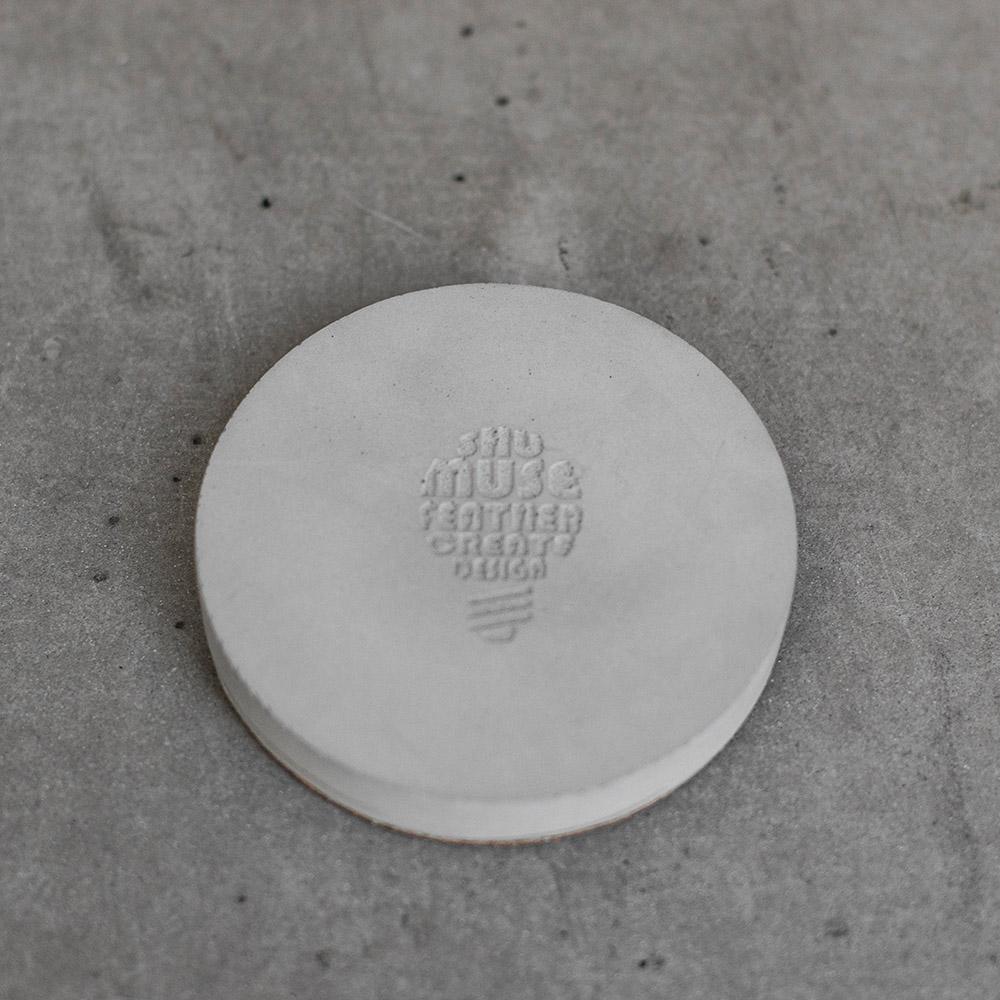 曙MUSE | 水泥燈泡圓盤杯墊