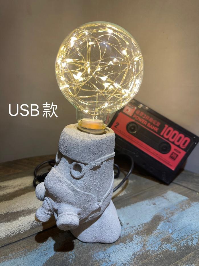 曙MUSE|摩艾防毒面具桌燈