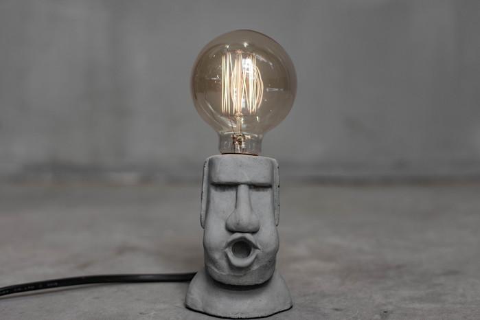 曙MUSE|嘟嘴摩艾造型桌燈