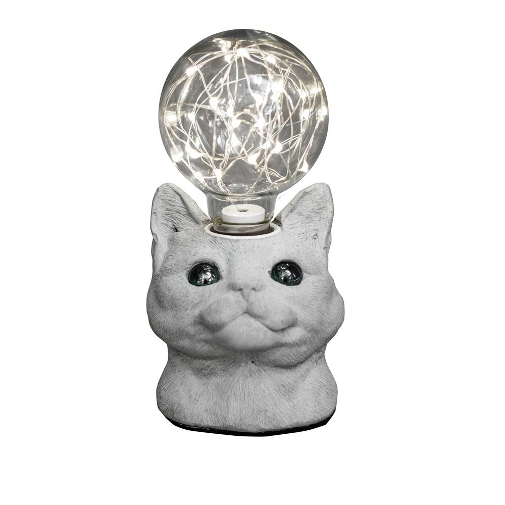 曙MUSE 仰望貓咪水泥桌燈