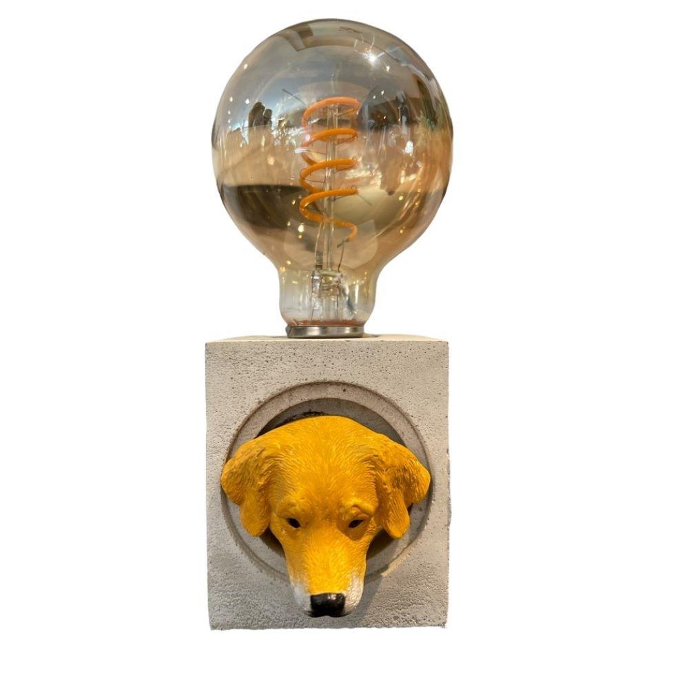 曙MUSE 拉布拉多方形水泥桌燈