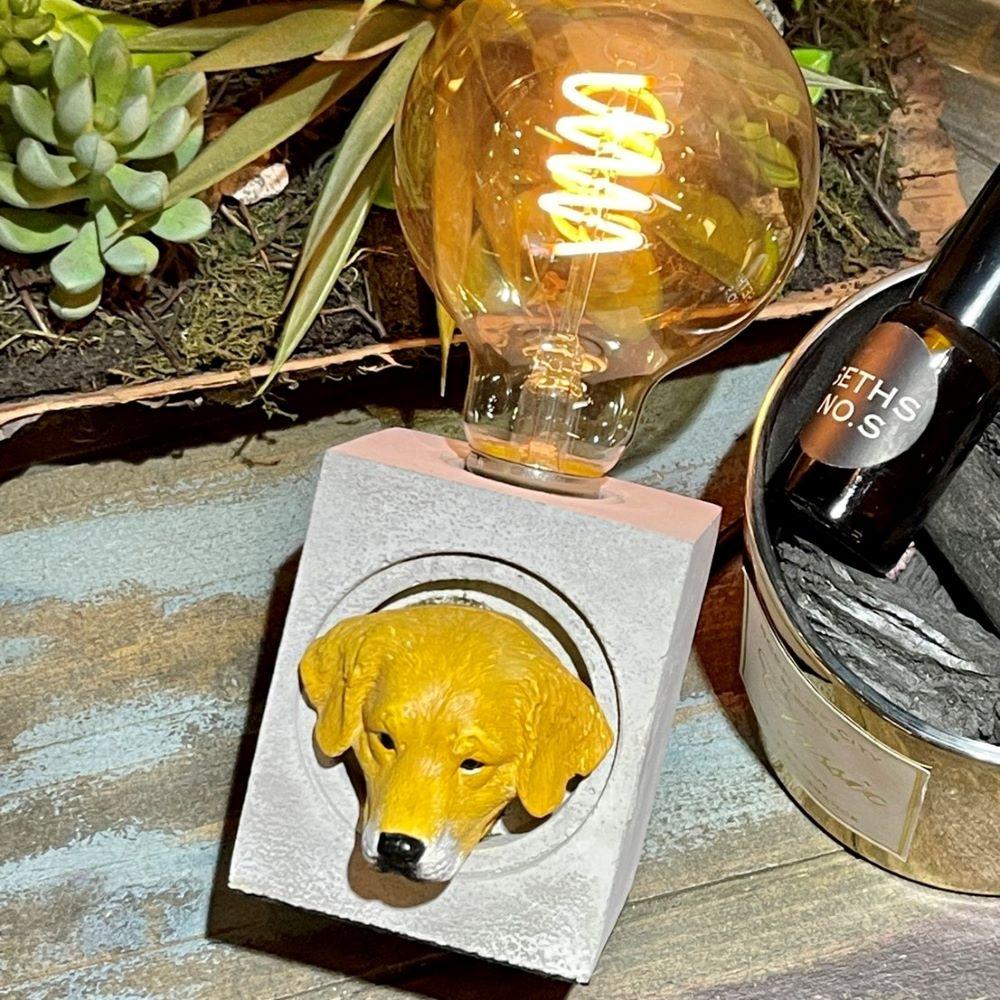 曙MUSE|拉布拉多方形水泥桌燈 LED燈款