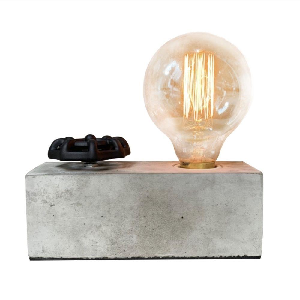 曙MUSE 手輪調光極簡水泥長方塊桌燈