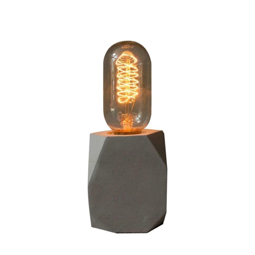 曙MUSE|鑽石切面長方水泥桌燈