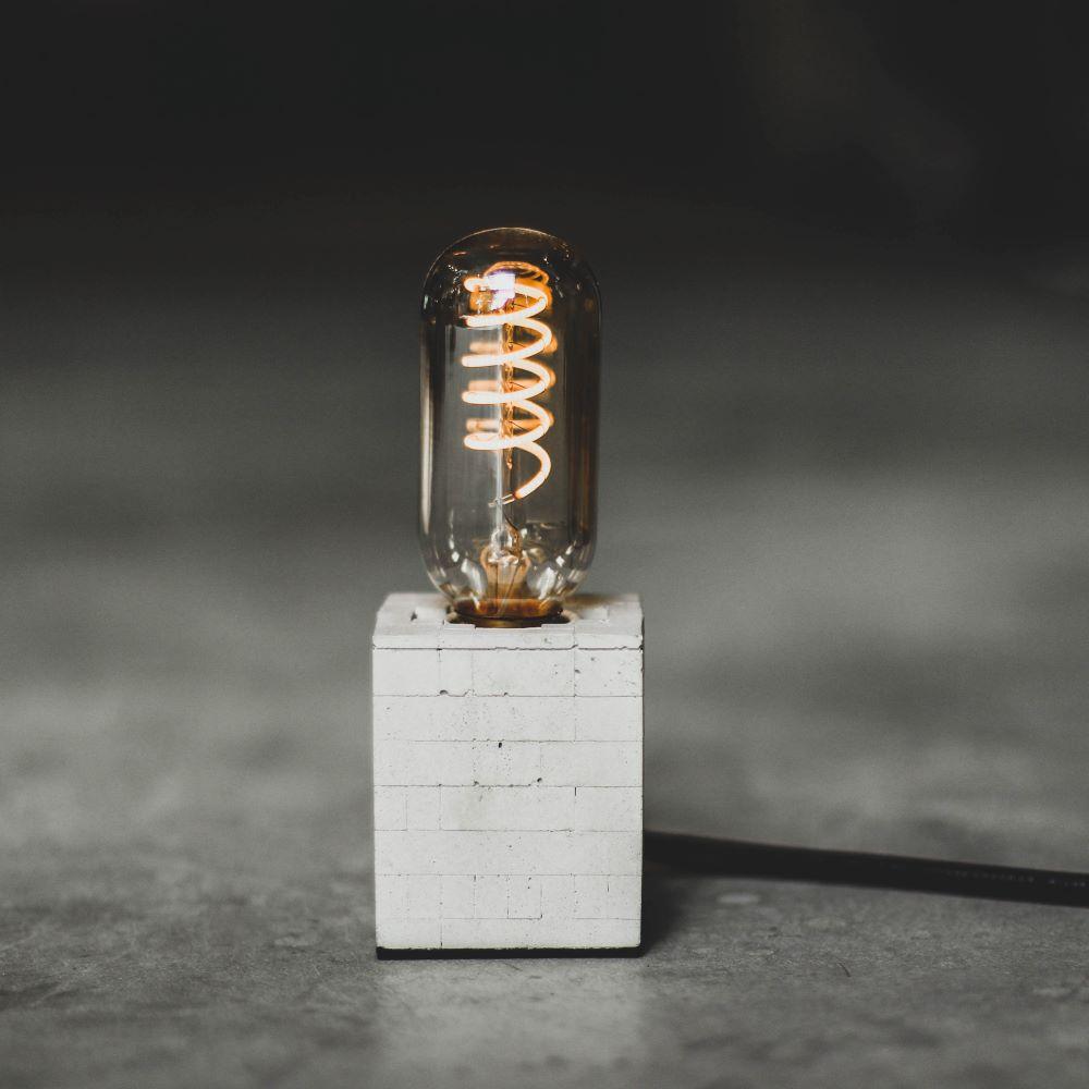 曙MUSE|磚紋正方水泥桌燈