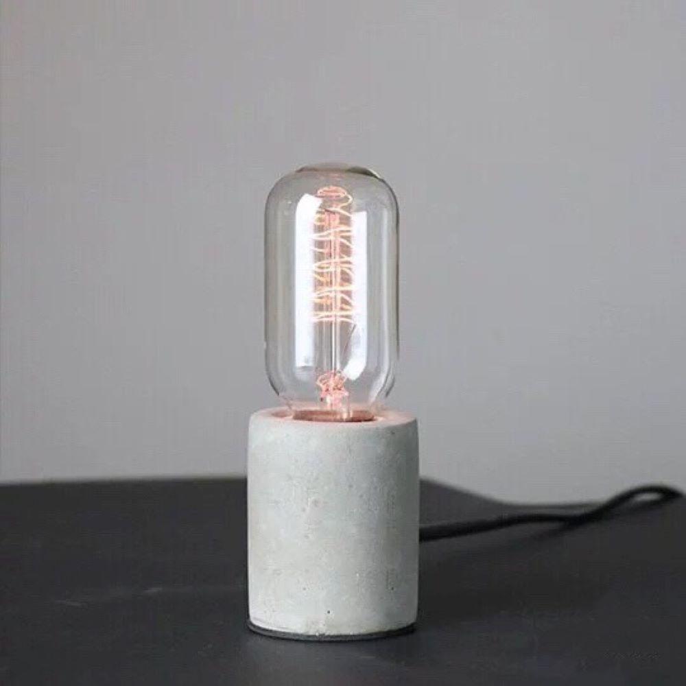 曙MUSE|小圓柱水泥桌燈
