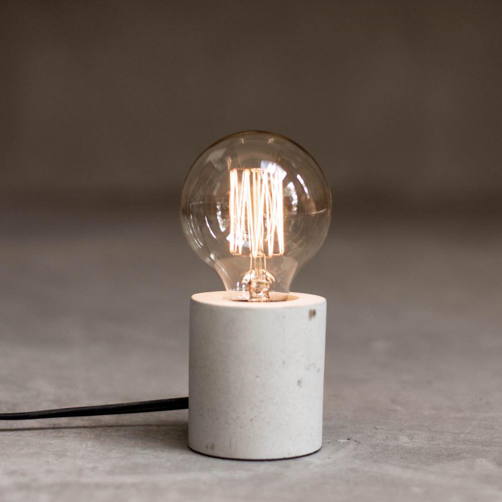 曙MUSE|極簡圓柱水泥桌燈