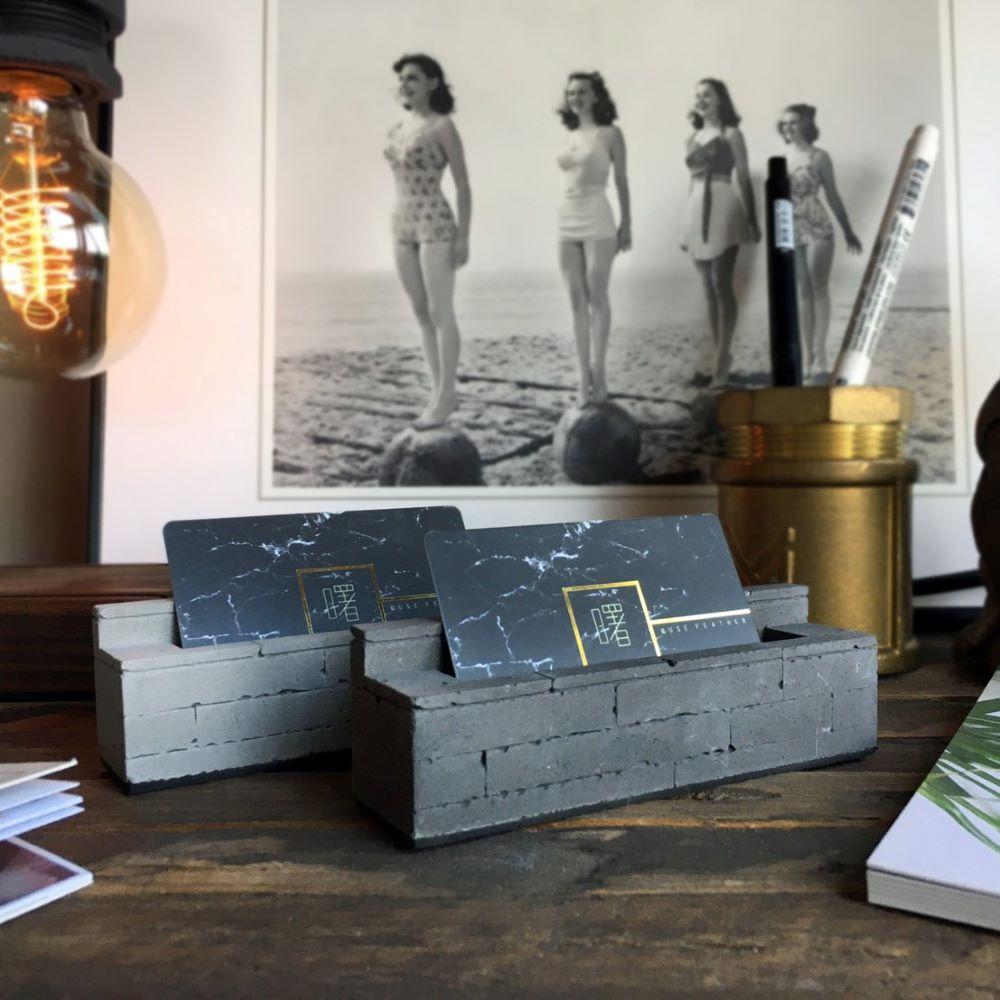 曙MUSE| 磚紋薄單層水泥名片架